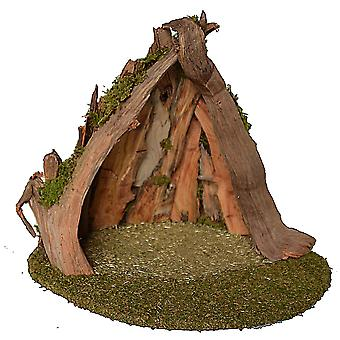 UNIKAT Root Crib 4 Christmas crib Stall Crib syness stall Genuine wood handmade from Bavaria for figures up to 15 cm