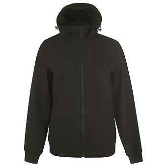 Fabric Mens Gents Casual Lightweight Hooded Softshell Jacket Outerwear