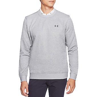 Under Armour Mens Storm Armour Casual Fleece Lined Crew Sweatshirt Jumper - Grey