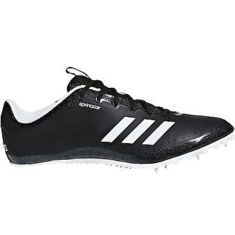 adidas Performance Mens Sprintstar Lace Up Running Track Spikes Trainers - Black