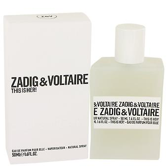 Zadig & Voltaire This is Her Eau de Parfum 50ml EDP Spray