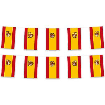 Spain Bunting 5m 12 Bunts Polyester Fabric Country National