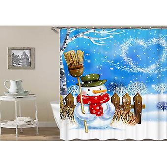 Snowman Magical Christmas Shower Curtain