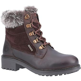 Cotswold Womens/Ladies Culkerton Fur Collar Lace Up Leather Boot