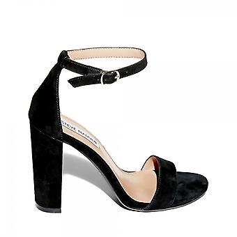 Steve Madden Carson Ladies Suede Block Heel Sandals Black