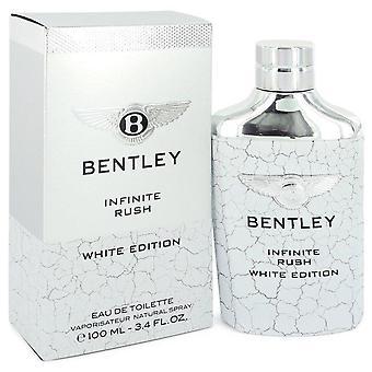 Bentley infinite rush eau de toilette spray (white edition) by bentley 548033 100 ml