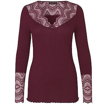 Rosemunde Silk Blend Brionne V-Neck Long Sleeve Top