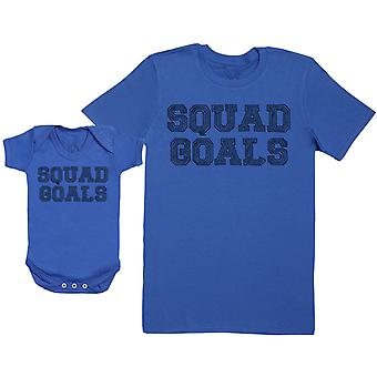 SQUAD GOALS - Baby Gift Set with Baby Bodysuit & Father's T-Shirt