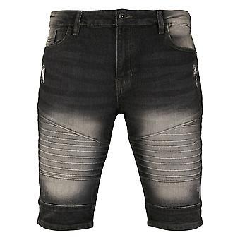 Southpole Men's Denim Shorts Biker Denim
