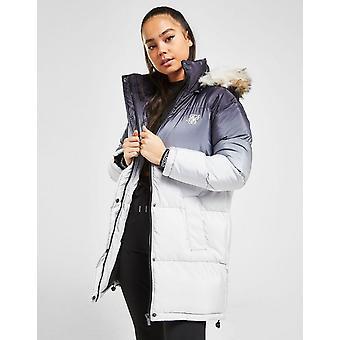 New SikSilk Women's Fur Padded Jacket Grey