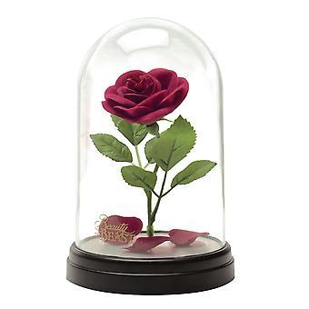Disney Die Schöne und das Biest Rosen Kuppel Leuchte schwarz/transparent, bedruckt, aus Kunststoff, in Geschenkverpackung.