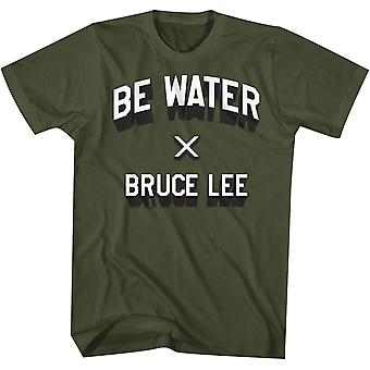Amerikanische Klassiker Bruce Lee be Wasser T-Shirt - Military Green