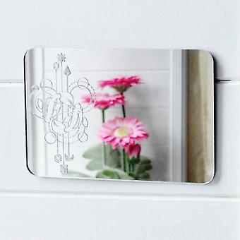 Two Fish Pisces Decorative Rectangle Acrylic Mirror