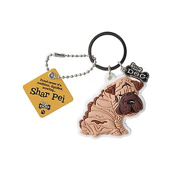 Wags & Whiskers Keyring - Shar Pei