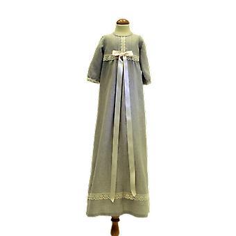 Dopklänning Grace Of Sweden, Lång ärm Och Off White Bred Rosett