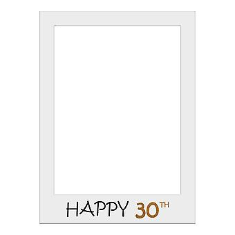 Large Size Birthday Selfie Photo Frame Party Props-Happy 30th Birthday