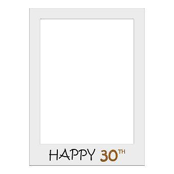 Große Größe Geburtstag Selfie Foto Rahmen Party Requisiten-Happy 30. Geburtstag