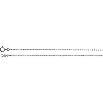 18k White Gold .85mm Necklace Rope Chain With Spring Ring Jewelry Gifts for Women - Length: 16 to 24