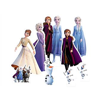 Congelato 2 Ufficiale Disney Tavolo Top Cardboard Cutout / Standees Party Pack di 9
