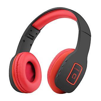 KOMC Wireless Headphones Bluetooth Wireless Headphones Stereo Gaming Red