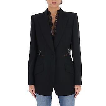 Alexander Mcqueen 607334qeaaa1000 Women's Black Cotton Blazer