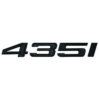 Matt Black BMW 435i Car Model Rear Boot Number Letter Sticker Decal Badge Emblem For 4 Series F32 F33 F36 G22 G23 G26