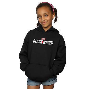Marvel Girls Black Widow Film Logo Hoodie