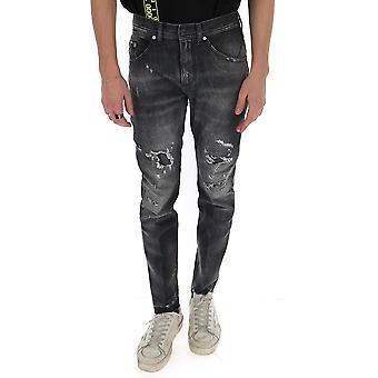 Neil Barrett Pbde285n802t1852 Men's Black Cotton Jeans