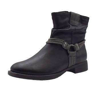 Soft Line 25461 Ancona Biker Style Wide Fit Boots In Black