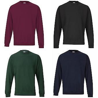 RTXtra Mens Classic Plain Crew Neck Sweatshirt Top