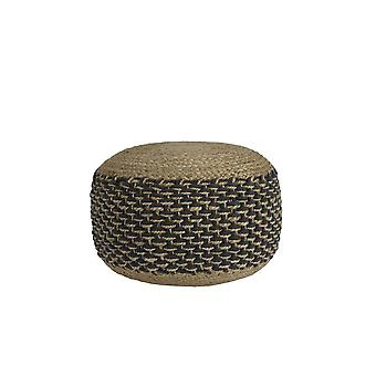 Light & Living Pouf 50x35cm Tajura Dark Grey-Jute