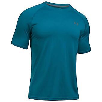 Under Armour Mens Tech Kurzarm Training T-Shirt T-Shirt Blau