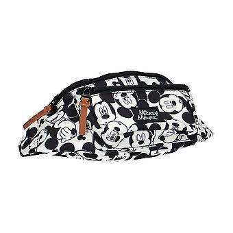Musse Pigg alla tillsammans svart och vit midja väska