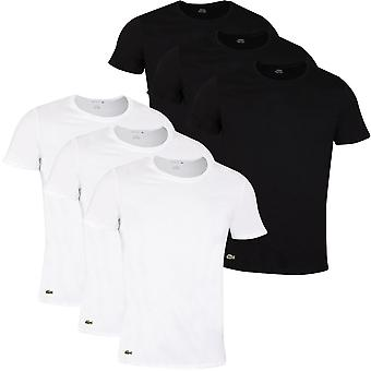 Lacoste Herre 2021 TH3451 Crew Neck Bomuld Ribbet Crocodile 3 Pack T-shirt
