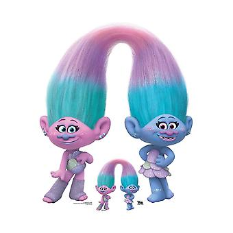 Satin and Chenille Official Trolls World Tour Cardboard Cutout / Standee