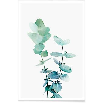 JUNIQE Print - Print 18 - Leaves & Plants Poster in Green & White