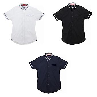Brave Soul Herren Colvin Kurzarm-Shirt mit Kontrast Check Details