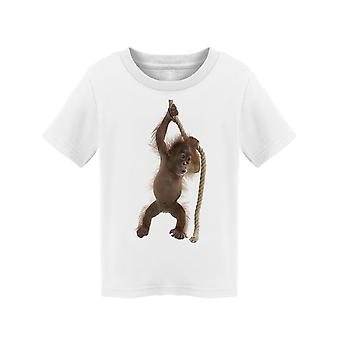 Baby Orangutan Pulling A Rope  Tee Toddler's -Image by Shutterstock
