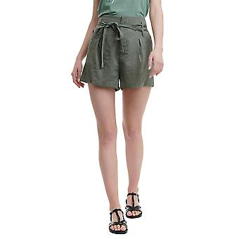 Funky Buddha Women's Fashion Shorts With Pleated Design