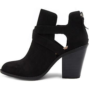 Sugar Women's Venti Transitional Block Heel Ankle Boot Ladies Bootie with Cri...