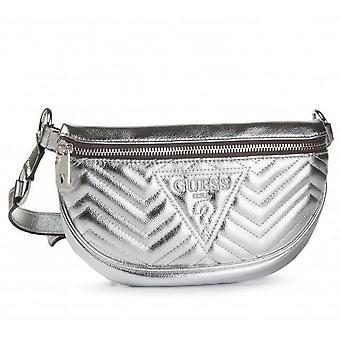 Guess zana belt bag womens silver