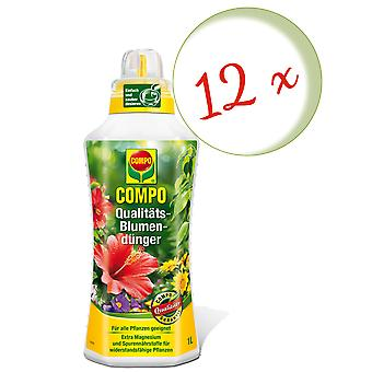 Sparset: 12 x COMPO quality flower fertilizer, 1 litre