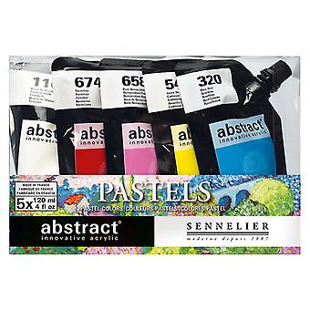Sennelier Abstract Acrylic Paint Pastel Set 5 x 120ml