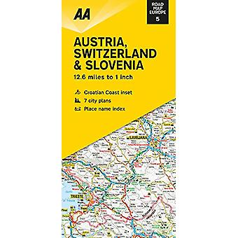 Road Map Austria - Switzerland & Slovenia - 9780749582173 Book