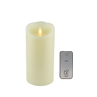 Xtralite Flameless Pillar Candle Flickering Light Battery Powered With Remote 7""