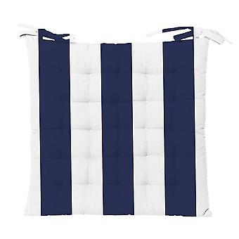 Outdoor Stripe Chair Pad 40x40cm Blau
