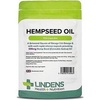 Lindens Hempseed Oil 300mg Cápsulas 100 (2063)