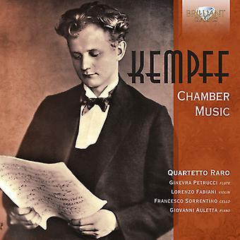 Kempff / Quartetto Raro / Auletta - Musique de chambre [CD] Usa import