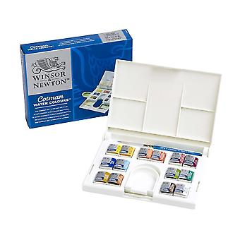 Winsor & Newton aquarelle Cotman 14 demi Pan Compact Set