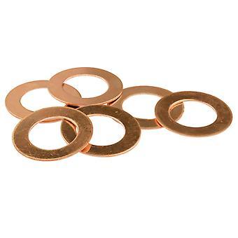 Kupfer Blanks Runde Waschmaschine Pack von 6 30mm
